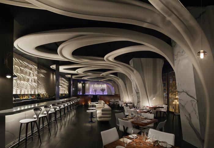 Stk toronto canada ceiling restaurant bar